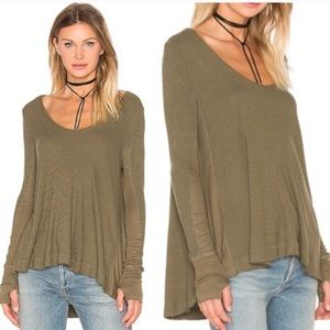 We The Free Malibu Thermal Top in Olive Green